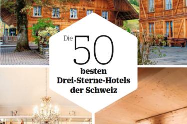 Wir haben es in die Top 50 der besten Schweizer Drei-Sterne-Hotels geschafft!